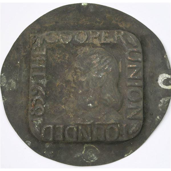 Medallic Art Company Original Galvano-Negative for Cooper Union  [137093]