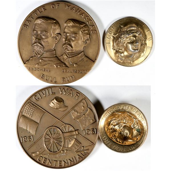 Battle of Manassas Medal/ Popout Liberty Coin  [138959]
