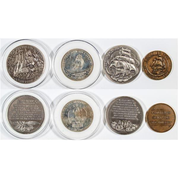 Historic Ships Commemorative Medals (4)  [137493]