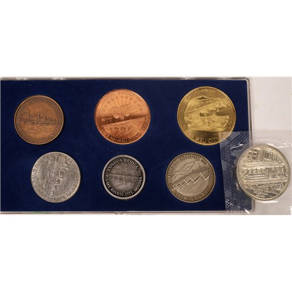 London Bridge Lake Havasu Medal Set/ S.F. Cable Car Centennial Medal  [138956]
