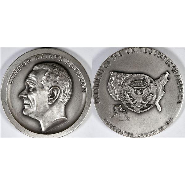 Lyndon Baines Johnson Silver Inauguration Medal  [138820]