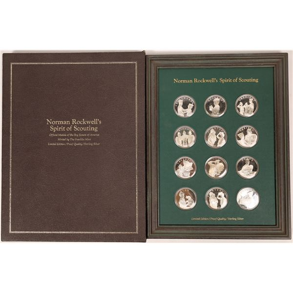 Norman Rockwell's Spirit of Scouting Sterling Silver Medal Set  [138955]