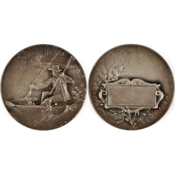 Silverplated Fishing Medal  [137794]
