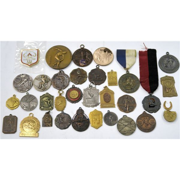 Sports Medals, Vintage Collection of 32 Pieces  [138903]