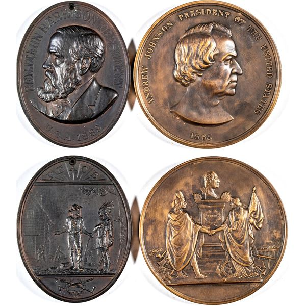 U.S. Indian Peace medals (2)  [137503]