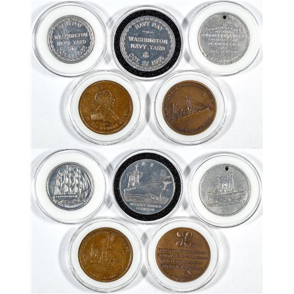 U.S. Naval History Medals (5)  [137491]