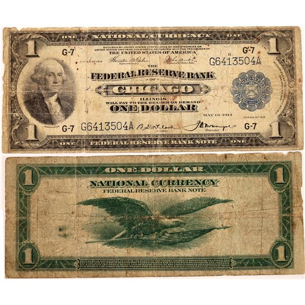 Federal Reserve One Dollar Note Chicago series 1918   [133800]