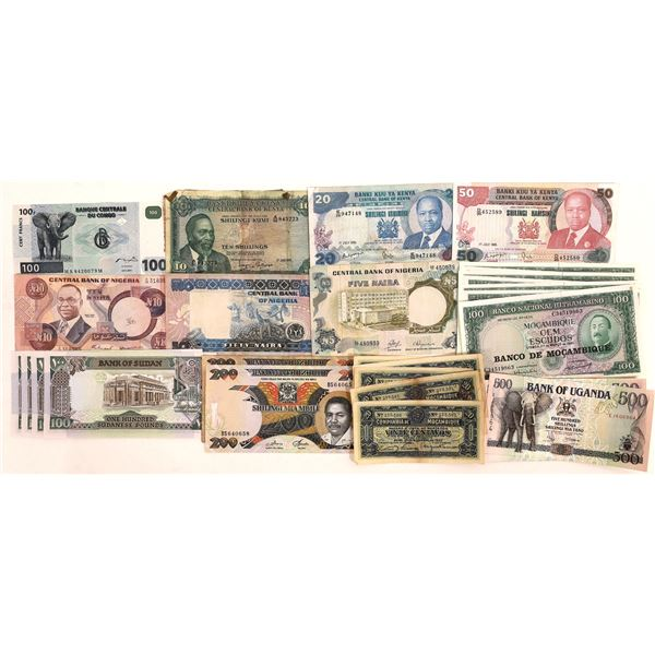 African Currency Group 1 - 35 pieces  [136113]