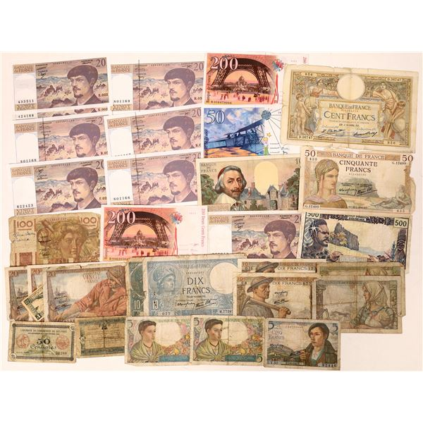 French Currency - ~30 pieces  [136100]