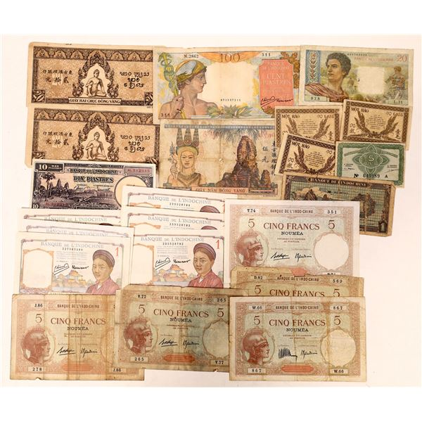 Currency from French Indochina - 20+ pcs  [136102]