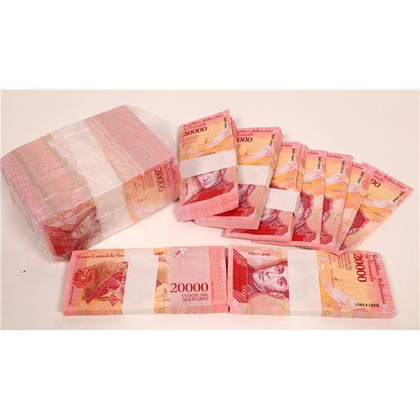 1500 Twenty Thousand Bolivares Notes, 2017  [136684]