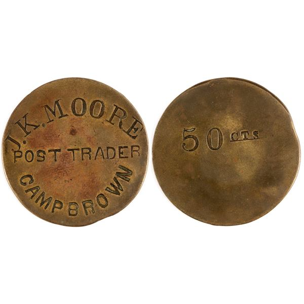 Camp Brown 50 Cent token, 1870-1871, Incuse  [136536]