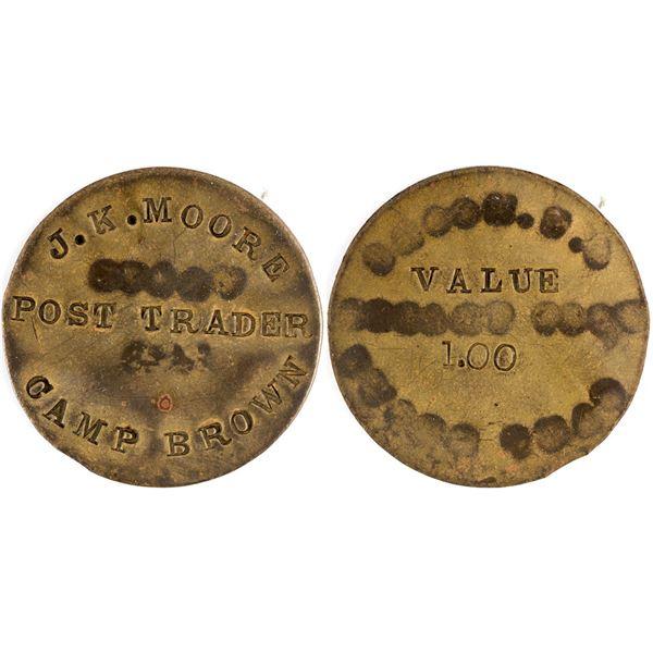Camp Brown $1.00 token, Incuse  [136534]