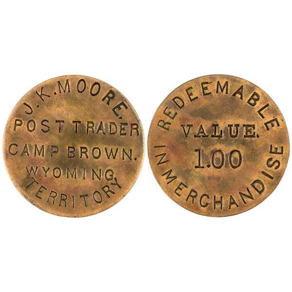 "Camp Brown, Incuse ""Value $1.00"" Post Trader Token  [136532]"