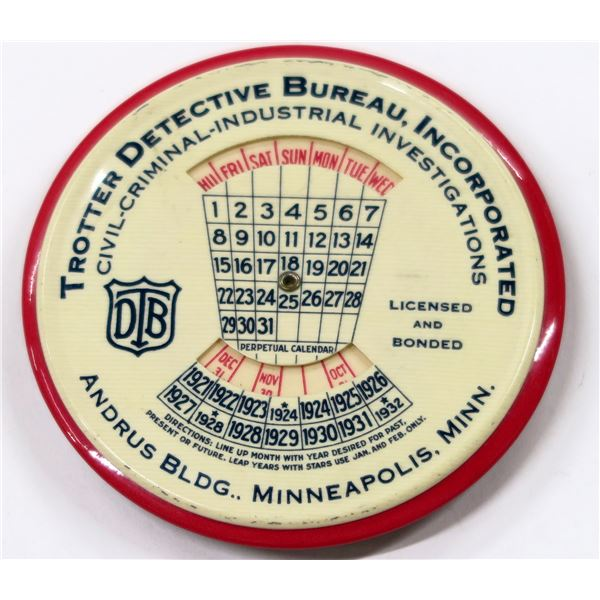 Trotter Detective Bureau Adverting Mirror  [135928]
