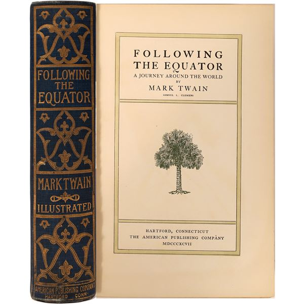 """""""Following the Equator"""" by Mark Twain 1st Edition  [136787]"""