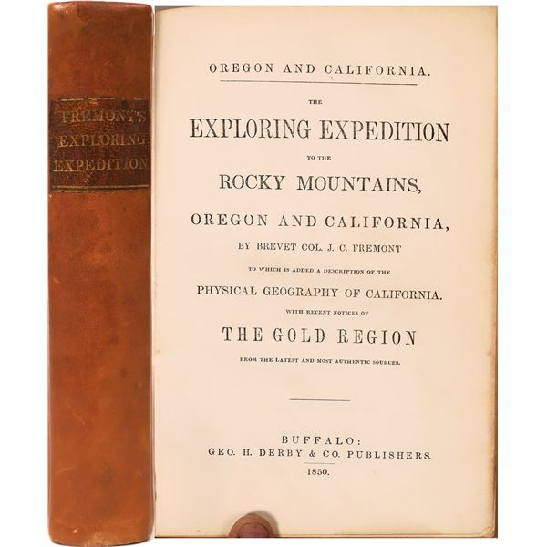 """""""Exploring Expedition of the Rocky Mountains"""" By John C. Fremont  [136827]"""