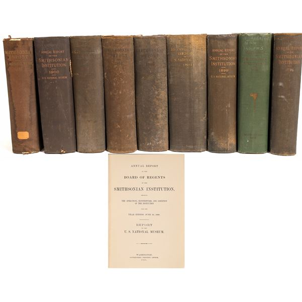 Smithsonian Institution Annual Reports (9 Bound Volumes)  [132757]