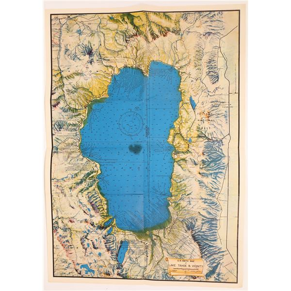 Lake Tahoe & Vicinity Map, by E. R. Smith, 1947   [137621]