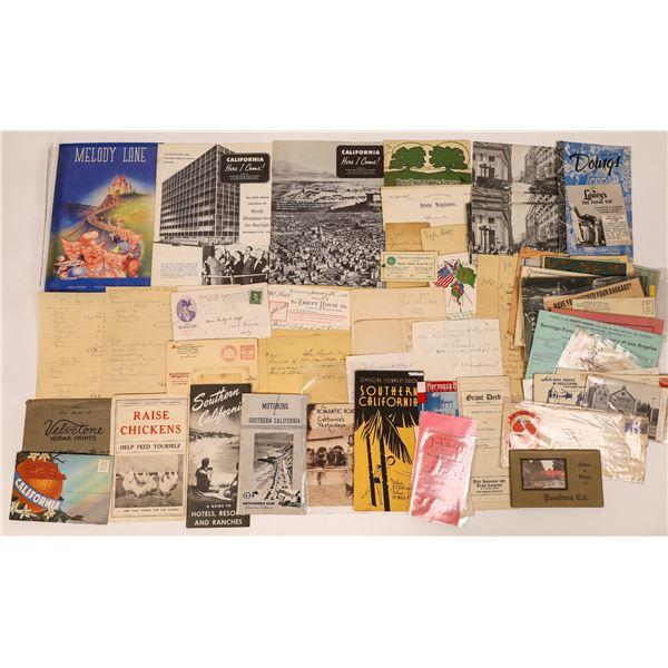 Los Angeles & Area Ephemera Collection  [135245]