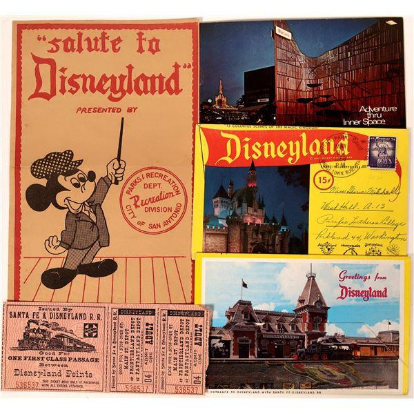 Disneyland Ephemera from the 1950s  [132607]