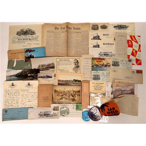San Diego Ephemera Collection  [135677]