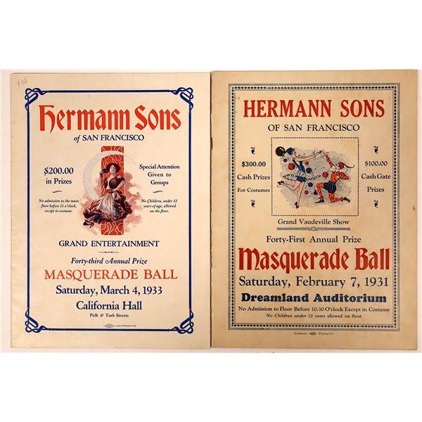 Hermann Sons of San Francisco Masquerade Ball Programs  [135619]