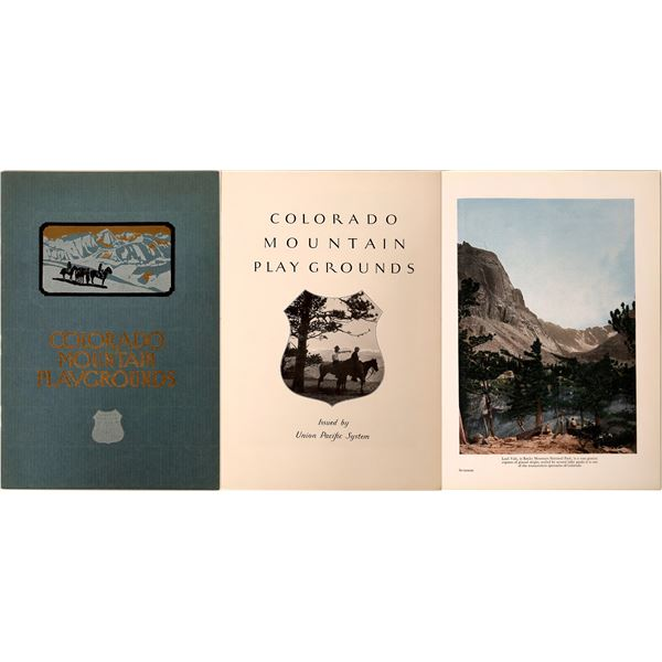 Colorado Mountain Playgrounds Brochure by Union Pacific Railroad  [132604]