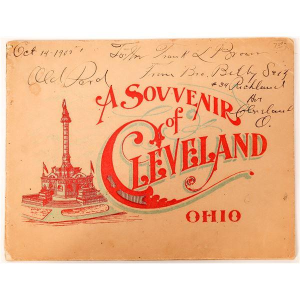 A Souvenir of Cleveland, Ohio (Booklet)  [135772]