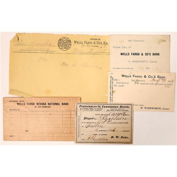 Wells Fargo Ephemera (5)  [135789]