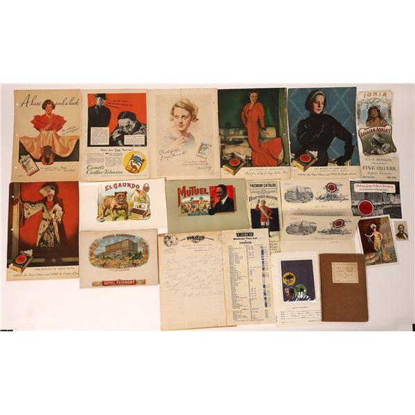 Cigarette and Cigar Ephemera Collection  [132586]