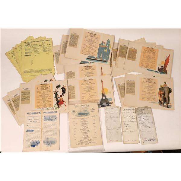 Steamship and Shipping Documents   [132595]