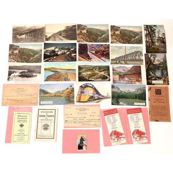 Railroad Ephemera and Postcards  [138943]