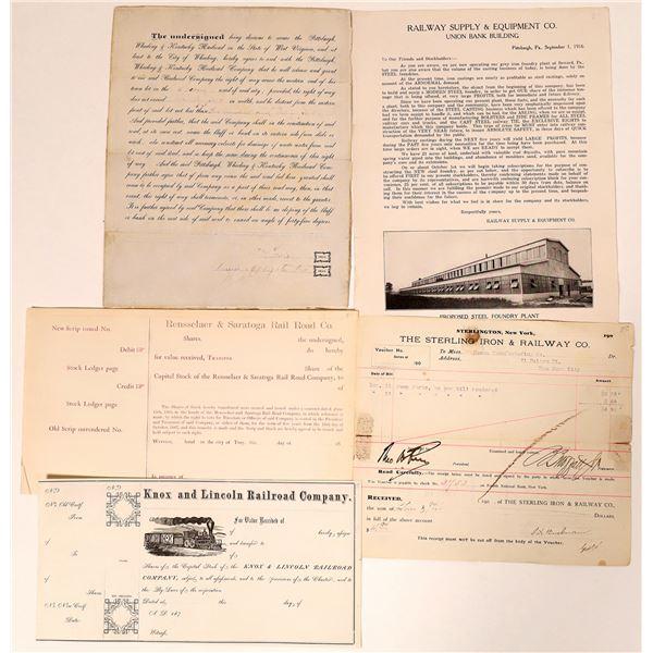 Eastern US Railroad Ephemera  [135250]