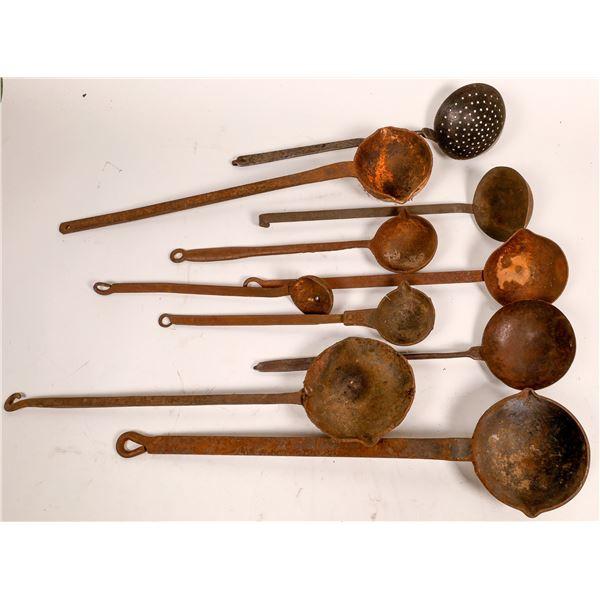 Group of Ten Rusty Ladles   [136706]