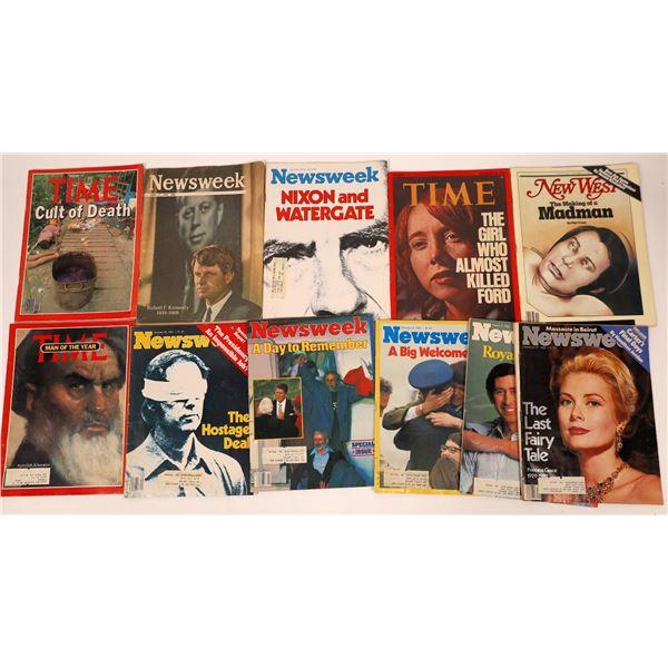 Time & Newsweek Noteworthy Magazine Issues (10)  [137620]