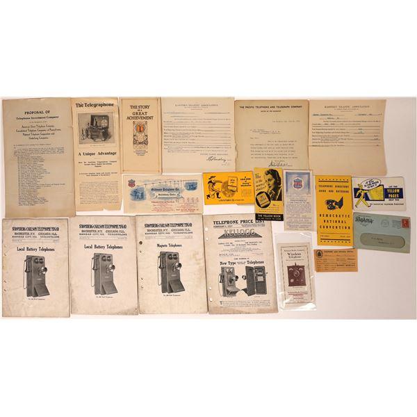 Vintage Telephone Ephemera Collection  [132585]