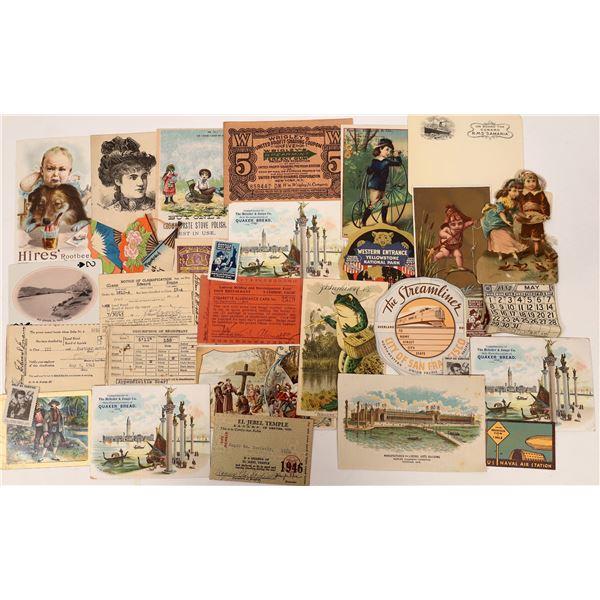 Trade Cards & Other Ephemera - 22  [136091]