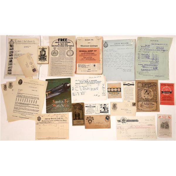 Watchmaker Ephemera Collection  [132662]