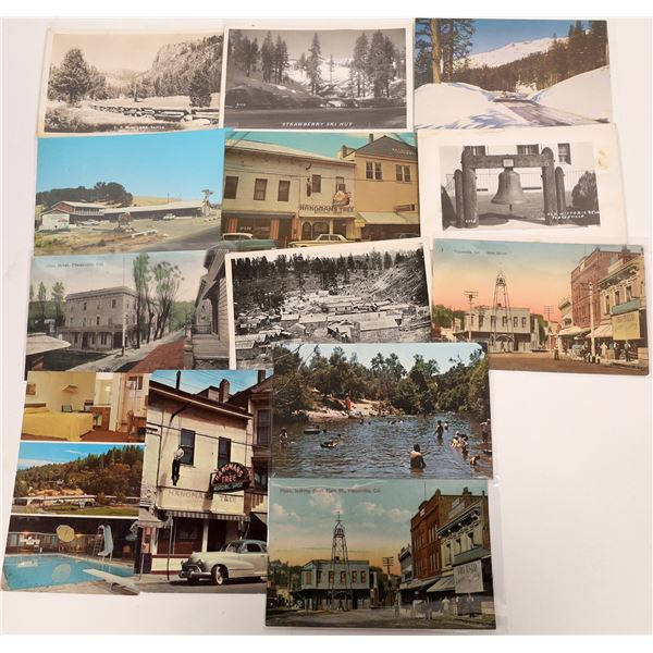 Placerville and Tahoe Postcard Group (13)  [136456]