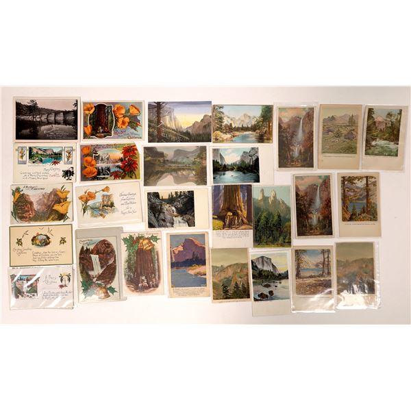 Yosemite Artwork Postcards and Seasonal Postcards  [132573]