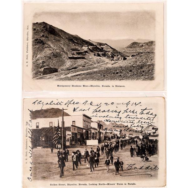 Rhyolite Nevada Postcards (2)  [127076]