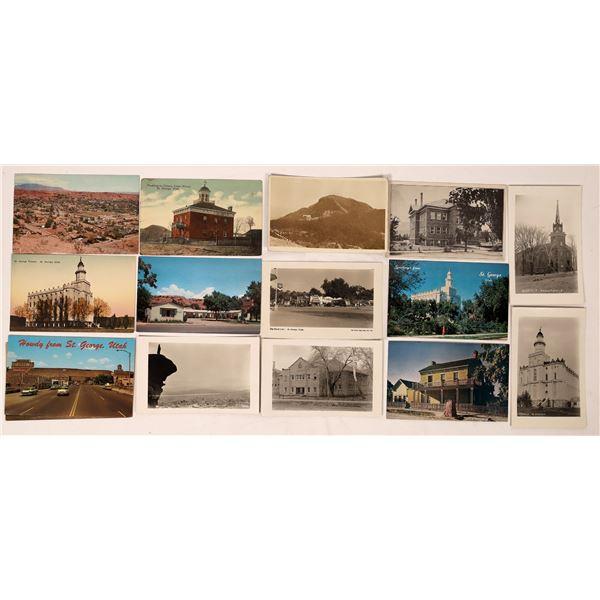 St George Utah Postcard Group (14)  [138980]