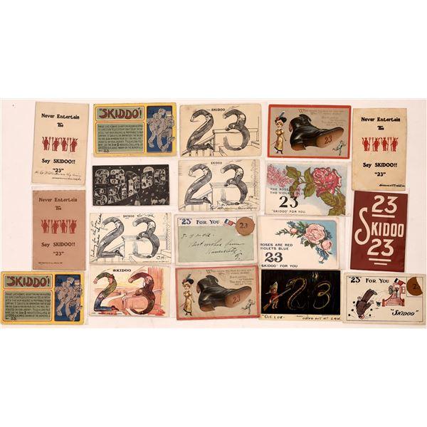 23 Skidoo Postcard Collection  [137938]