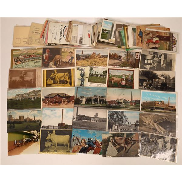 Advertising Postcard Group - Milk Products (Approx 100 cards)  [138117]