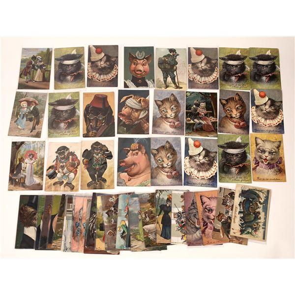 Animal Themed Postcard Collection (50)  [136734]