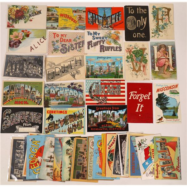 Big Letter Postcard Collection  [138836]