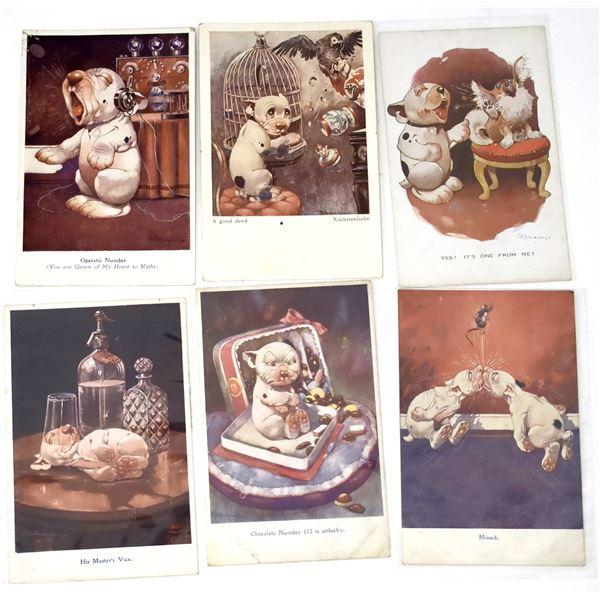 Bonzo Postcards Lot of 6  [138114]