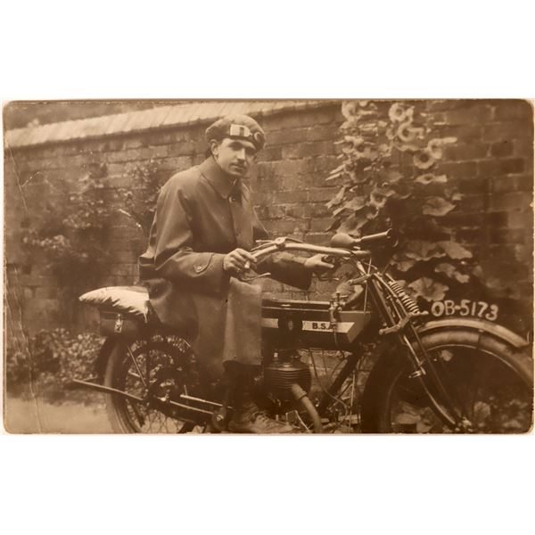 BSA Motorcycle Real Photo Postcard  [133663]