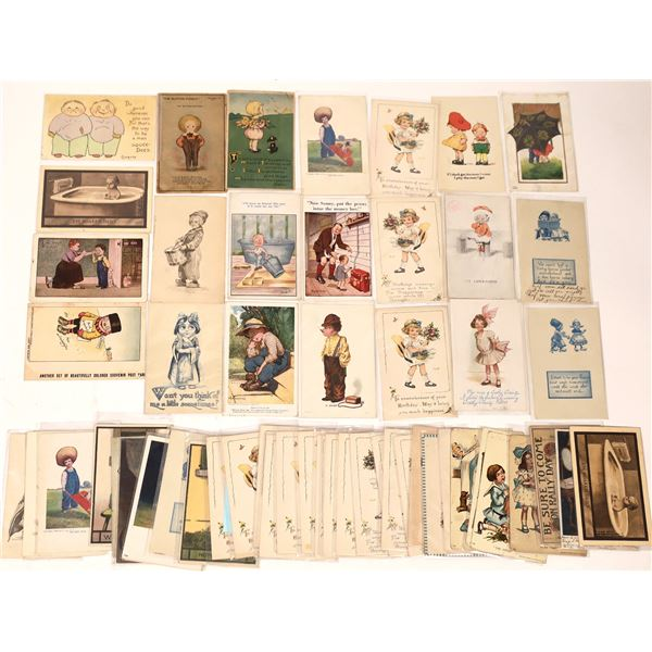 Children Themed Postcards (About 55)  [136525]